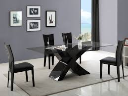 ensemble table chaises ensemble table 4 chaises hollis coloris blanc ou noir