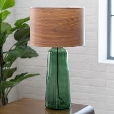 innovative diy table lamp project ideas with laminate wood shade