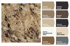 match a paint color to your cabinet and countertop interior