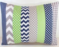 Navy And Green Nursery Decor Stripe And Floral Pillow Coral And Navy Nursery Decor