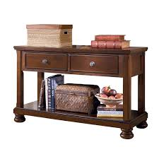 Ashley Sofa Table by Signature Design By Ashley T697 4 Porter Console Sofa Table The Mine