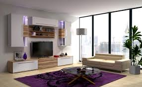 cool black finish living room tv wall unit come with beige stylish