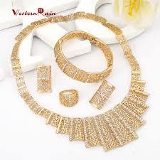 cheap necklace stores images Fashion statement sets dubai gold color vintage jewelry sets 2017 jpg