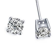 real earrings classic brand earrings stud for women real gold 18k basket stud