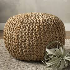 Woven Pouf Ottoman Kick Your Up In The Den With This Stylish Woven Pouf Or Add