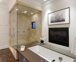 extraordinary bathroom design with glass door shower room and wall