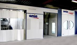 paint preparation booth box lab at omia