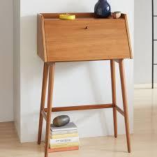 Secretary Style Desks Mid Century Mini Secretary West Elm