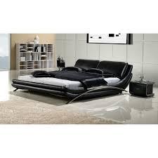 Black Queen Bedroom Set - White leather queen bedroom set