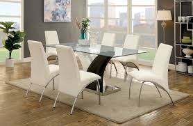 White Dining Room Furniture Sets Furniture Of America Svana White Dining Room Table Set Cm3382t