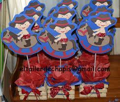 el taller de chapis centro de mesa baby cowboy