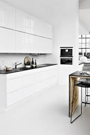 White Gloss Kitchen Ideas Mad About Scandinavian Style Kitchens Black Counters