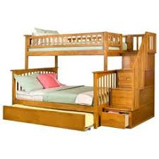 weston twin over full staircase bunk bed finish merlot