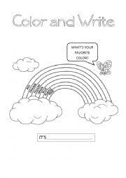 english teaching worksheets the rainbow