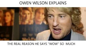 Owen Wilson Meme - owen wilson explains wow youtube
