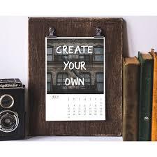 calendar template custom calendar digital download 2016 2017