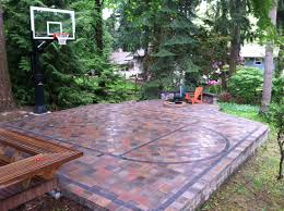 Build A Basketball Court In Backyard Paving Stone Basketball Court U2026 Pinteres U2026