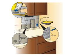 How To Install Kitchen Backsplash Glass Tile How To Install A Tile Backsplash How Tos Diy