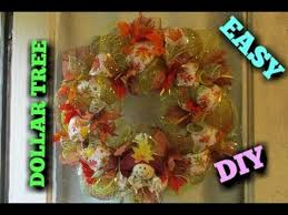 fall thanksgiving deco mesh wreath tutorial dollar tree