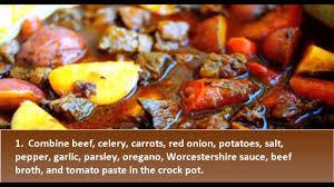 beef stew crock pot recipe best beef stew recipe youtube