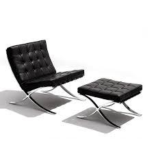 tr40011 ludwig mies van der rohe style barcelona chair and ottoman