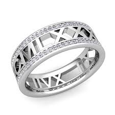 numeral ring my numeral diamond wedding eternity band ring in 14k gold