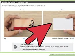 3 ways to make a business card wikihow