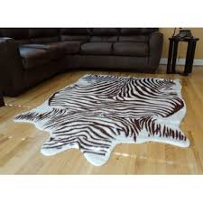 Brown Zebra Area Rug Brown Zebra Print Rug Wayfair