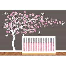 Brown Tree Wall Decal Nursery Cherry Blossom Tree Wall Decal Nursery Also Brown Background Large