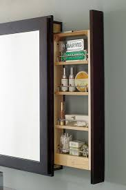 Bathroom Mirror With Shelves Bath Mirror With Pullout Decora Cabinetry