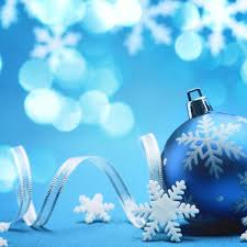 blue christmas decorations hd wallpapers