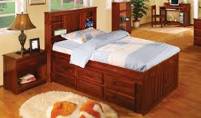 Cherry Wood Bedroom Furniture Bed U0026 Bedding Cherry Wood Twin Captains Bed With Storage For