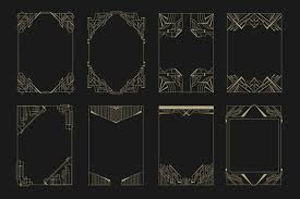 Art Deco Design Elements 16 Art Deco Borders Graphics 1920s Gatsby Styles Pinterest
