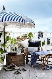 Blue And White Patio Umbrella Sharyn Cairns Jpg