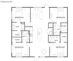 Bedroom Plan Floor Plans The Thompson A Student Apartment Community In San