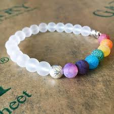 beads bracelet images 7 chakra healing white beads bracelet with elephant openchakraenergy jpg