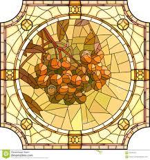 Rowan Map Vector Illustration Of Flower Orange Rowan Branch With Berries
