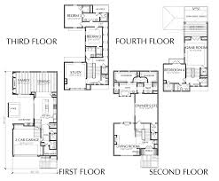luxury home plans with elevators 4 townhouse floor plan for sale