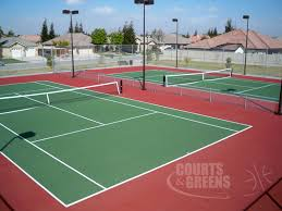 Backyard Tennis Courts Courts And Greens Custom Tennis Courts