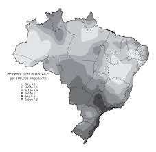Thematic Map Definition Spatial Distribution Of The Human Development Index Hiv Infection