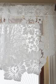 Daisy Kitchen Curtains by Royale Lace Curtains White Lorraine View All Curtains White Lace