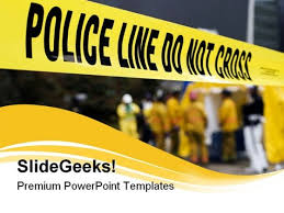 police line security powerpoint templates and powerpoint