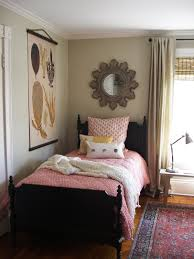 remarkable small guest room with unique wall mirror part of