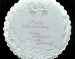 personalized anniversary plate anniversary plate etsy