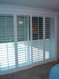 sliding glass doors shades plantation shutters on sliding glass door for family room to