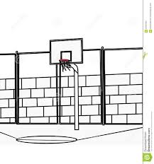 coloring page basketball basketball court coloring page stock illustration image 87361943