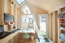 small studio tiny backyard studio lets architect keep an eye on his kid curbed