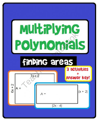 multiplying polynomials activity with answer keys from