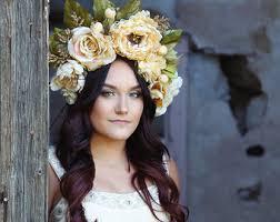 floral headdress flower headdress etsy