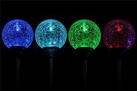Solar Lighting Indoor by Crystal Glass Globe Led Solar Light Color Changing Garden Indoor